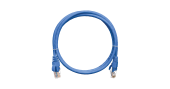 NMC-PC4UD55B-030-BL Коммутационный шнур NIKOMAX U/UTP 4 пары, Кат.5е (Класс D), 100МГц, 2хRJ45/8P8C, T568B, заливной, с защитой защелки, многожильный, BC (чистая медь), 24AWG (7х0,205мм), PVC нг(А), синий, 3м
