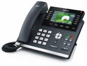 SIP-T46S SIP-телефон, цветной экран, 16 линий, BLF, PoE, GigE, без БП