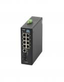 GL-SW-F001-08PSG-I Коммутатор GIGALINK неуправляемый, индустриальный на DIN рейку, 8 PoE (802.3af/at) портов 100Мбит/с, Combo SFP/1000BaseT, 48В (питание поставляется отдельно 240 ватт)