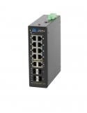 GL-SW-G101-10PSG-I Коммутатор GIGALINK Web-Smart управляемый, индустриальный на DIN рейку, 8 PoE (802.3af/at) портов 10/100/1000Мбит/с, 2*1000BaseT, 4*SFP, 48В (питание поставляется отдельно 240-480 ватт)
