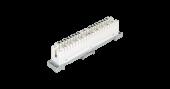 NMC-PL10-DC-10 Плинт NIKOMAX 10 пар, Кат.3 (Класс C), 16МГц, контакты типа KRONE, размыкаемый, маркировка 0...9, крепление под кронштейн, белый, уп-ка 10шт.
