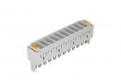 NMC-PL-PM10-10 Магазин защиты плинтов по напряжению NIKOMAX, на 10 пар, используется с трехконтактными разрядниками, серый, уп-ка 10шт.