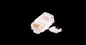 NMC-RJ88RZ50UD2-100 Коннектор NIKOMAX RJ45/8P8C под витую пару, Кат.5e (Класс D), 100МГц, покрытие 50мкд, универсальные ножи, неэкранированный, со вставкой, круглый ввод, уп-ка 100шт.