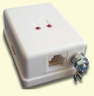468629.002-01 АЗУ-РПТ-ЕИ Абонентское защитное устройство (в корпусе с евроразъемом, заземление - винт М4, трехступенчатая защита, оптическая индикация)