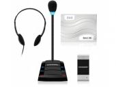 Stelberry SX-401 Комплекс аппаратуры клиент-кассир с подключаемыми наушниками и 4-канальной системой записи переговоров