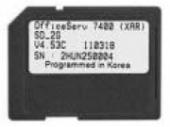 OS7400WSD/STD SD Карта с ПО OfficeServ7400