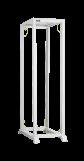 TRD-425710-R-GY Монтажная стойка двухрамная с разборной рамой 19