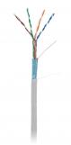 EC-UF004-5E-PVC-GY Кабель NETLAN F/UTP 4 пары, Кат.5e (Класс D), 100МГц, одножильный, BC (чистая медь), внутренний, PVC нг(B), серый, 305м