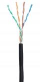 EC-UU004-5E-PE-BK Кабель NETLAN U/UTP 4 пары, Кат.5e (Класс D), 100МГц, одножильный, BC (чистая медь), внешний, PE до -40C, черный, 305м