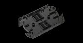 NMF-SPL32-WO Сплайс-кассета NIKOMAX, до 32 КДЗС, с органайзером, АБС-пластик, черная