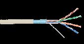 NKL 9200A-IY Кабель NIKOLAN F/UTP 4 пары, Кат.5e (Класс D), тест по ISO/IEC, 100МГц, одножильный, BC (чистая медь), 24AWG (0,511мм), внутренний, PVC нг(А), слоновая кость, 305м