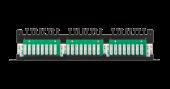 NMC-RP24UD2-HU-BK Коммутационная панель NIKOMAX 19