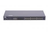 GL-SW-F201-28 Коммутатор GIGALINK управляемый L2, 24 Base-T 10/100Mb/s портов, 4 Combo TX/SFP 1000Mb/s, 1 Console, 1U 19'', 220V