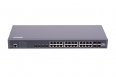 GL-SW-G201-28TC Коммутатор GIGALINK управляемый L2, 24 BASE-T 1000Mb/s портов, 4 Combo TX/SFP 10/100/1000Mb/s, 4 10G SFP+, 1 Console, 1U 19
