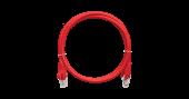 NMC-PC4UD55B-010-C-RD Коммутационный шнур NIKOMAX U/UTP 4 пары, Кат.5е (Класс D), 100МГц, 2хRJ45/8P8C, T568B, заливной, с защитой защелки, многожильный, BC (чистая медь), 24AWG (7х0,205мм), LSZH нг(А)-HFLTx, красный, 1м