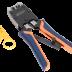 NMC-500R Инструмент NIKOMAX обжимной профессиональный, 2 гнезда, торцевой, с храповиком, совместим с коннекторами: RJ45/8P8C, RJ12/6P6C, RJ11/6P4C