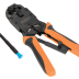 NMC-2008AR Инструмент NIKOMAX обжимной профессиональный, 3 гнезда, торцевой, с храповиком, совместим с коннекторами: RJ45/8P8C, RJ12/6P6C, RJ11/6P4C, 4P4C, 4P2C, DEC/6P6C