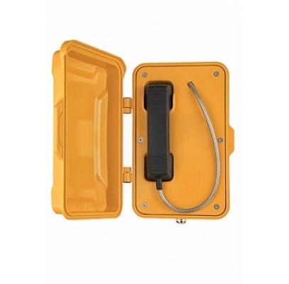 JR101-CB-Y-SIP Промышленный SIP телефон с крышкой, с трубкой, 2 SIP аккаунта, RJ45, WAN/LAN