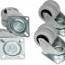 TLK-CB4 Ролики TLK поворотные для напольных шкафов, стоек TRD, уп-ка 4шт.